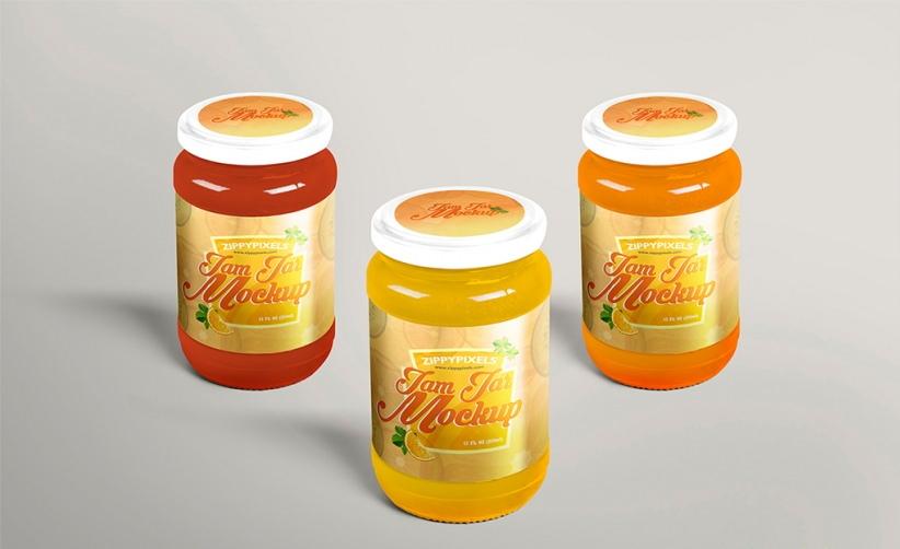 Free PSD Delightful Jam Jar Mockup