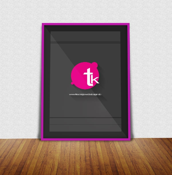 Free-Poster-Frame-Mockup-with-effective-long-shadow