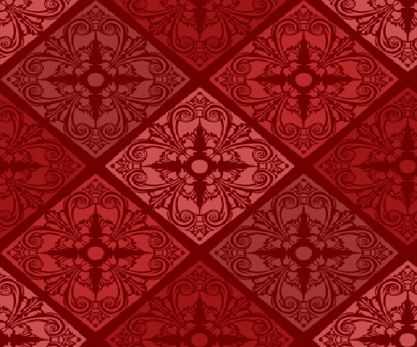 Free Seamless High Res Red Floral Pattern for Interior Decoration