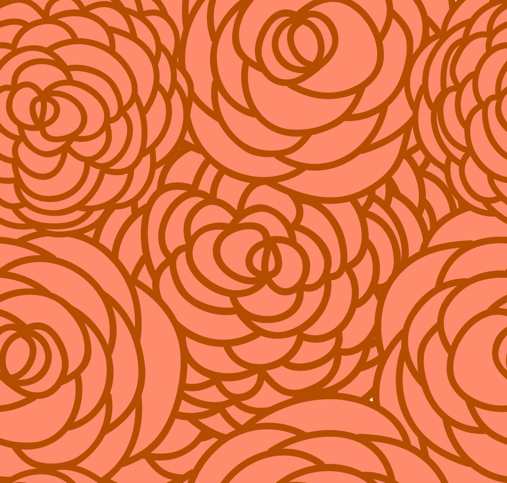 Free Seamless Red Flowers Pattern