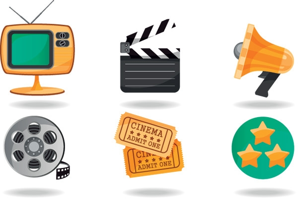 Free-Vector-Shadow-Style-Movie-icons