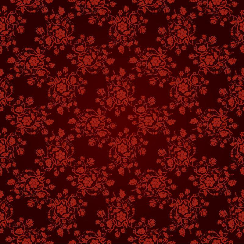Free Vector Vintage Seamless Floral Pattern