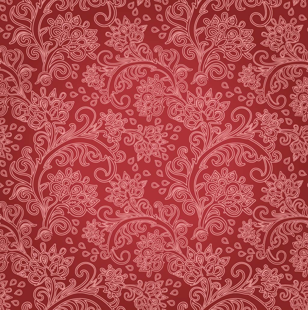 FreeVector-Red-Floral-Background