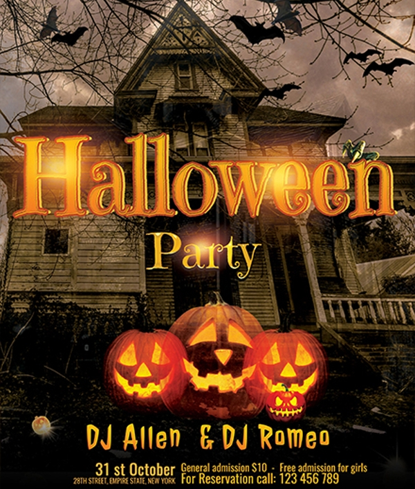 Halloween DJ Party Flyer