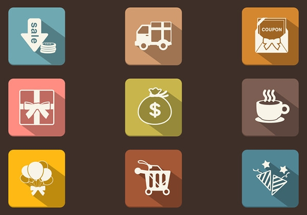 Long-Shadow-Shopping-Icon-PSD-Pack