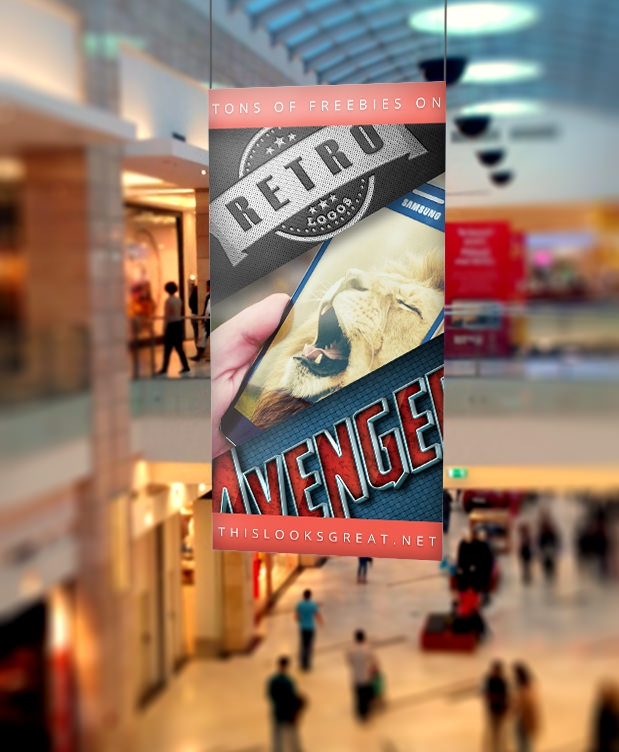 Mall Banner Mockup up psd