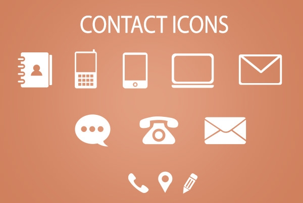 Minimal-Contact-Icons-PSD