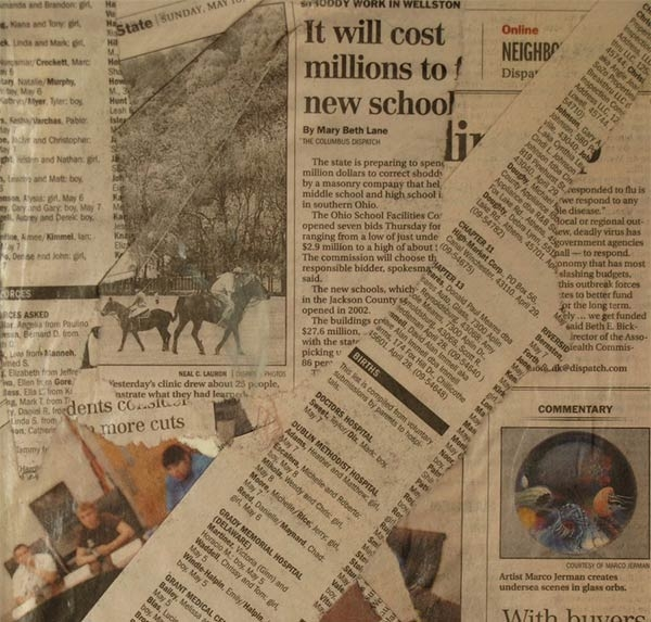 News Print Paper Texture