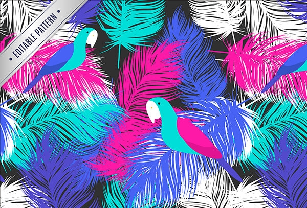Parrot-feather-pattern