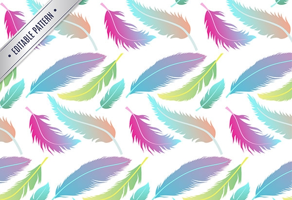 Pattern-with-colorful-feathers