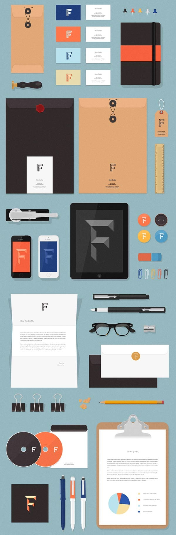 Realistic-Corporate-Branding-Stationery-Mockup-Free-PSD