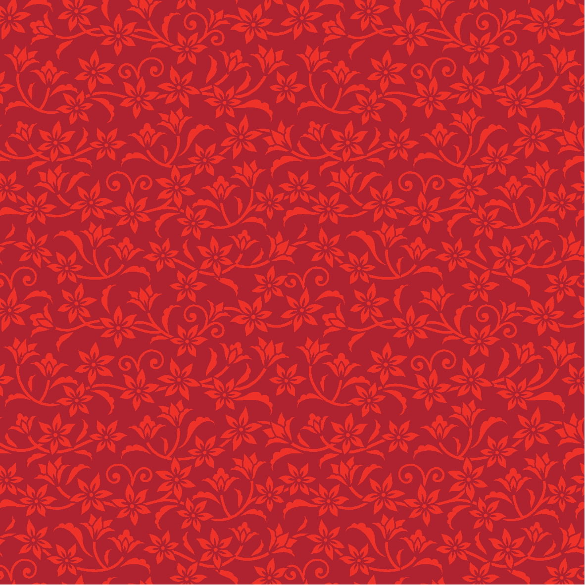 Red Flower Pattern Background for Photoshop
