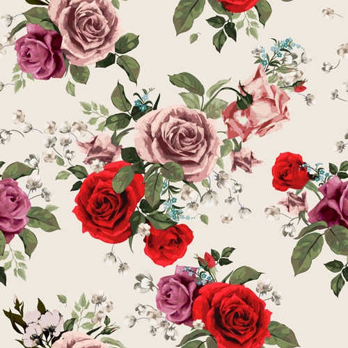 Retro-beautiful-roses-vector-seamless-pattern