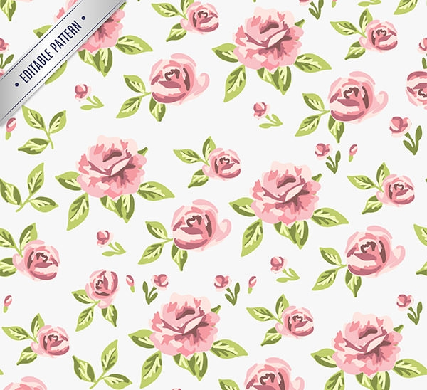 Retro-roses-pattern
