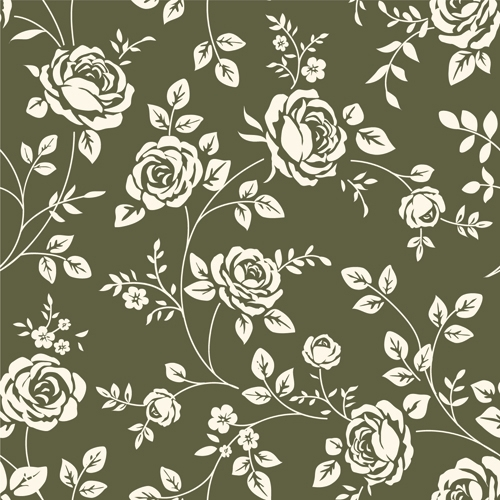 Retro-roses-seamless-patterns-design-vector
