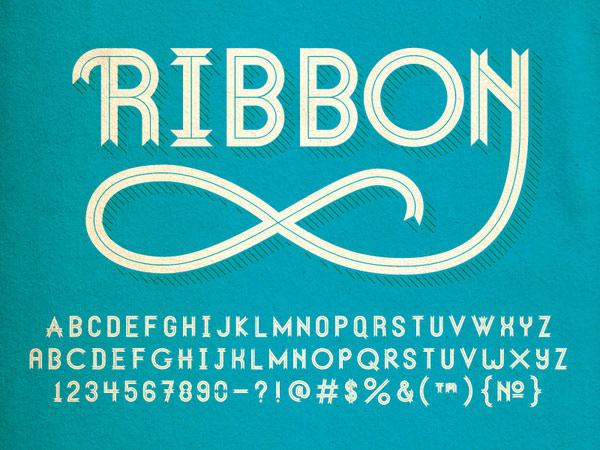 Ribbon+font