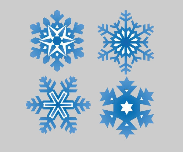 Snowflakes-pattern-shapes