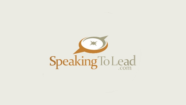 speaking to lead logo design