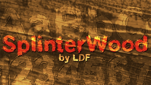 Splinter-Wood-font