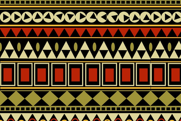 Tribal-pattern-seamless-borders-vector