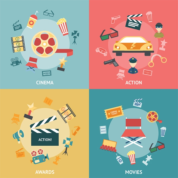 Variety-Of-Film-Icons-Free-Vector