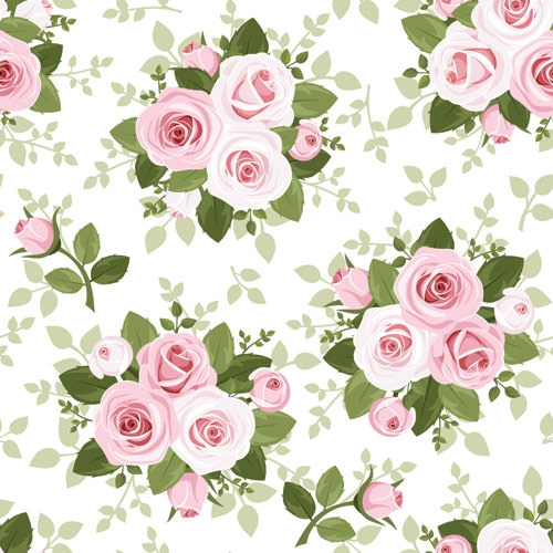 The Library Collection: Winter Rose | Floral pattern ... |Vintage Floral Rose Pattern