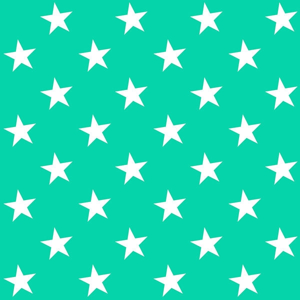 White-&-Green-Star-Pattern