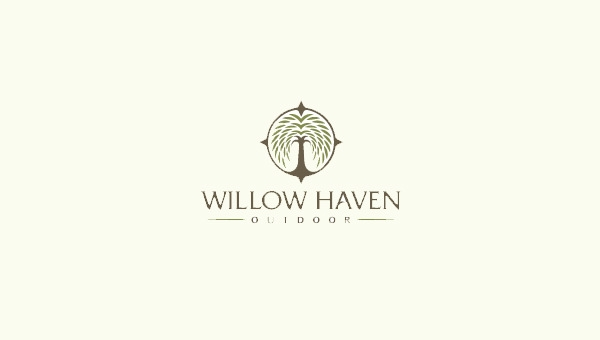 willow haven logo design
