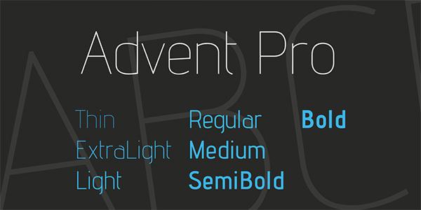 advent-pro-font
