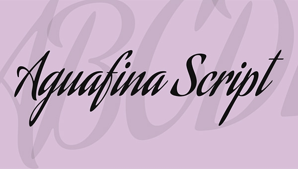 aguafina-script-font