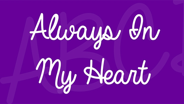always-in-my-heart-font