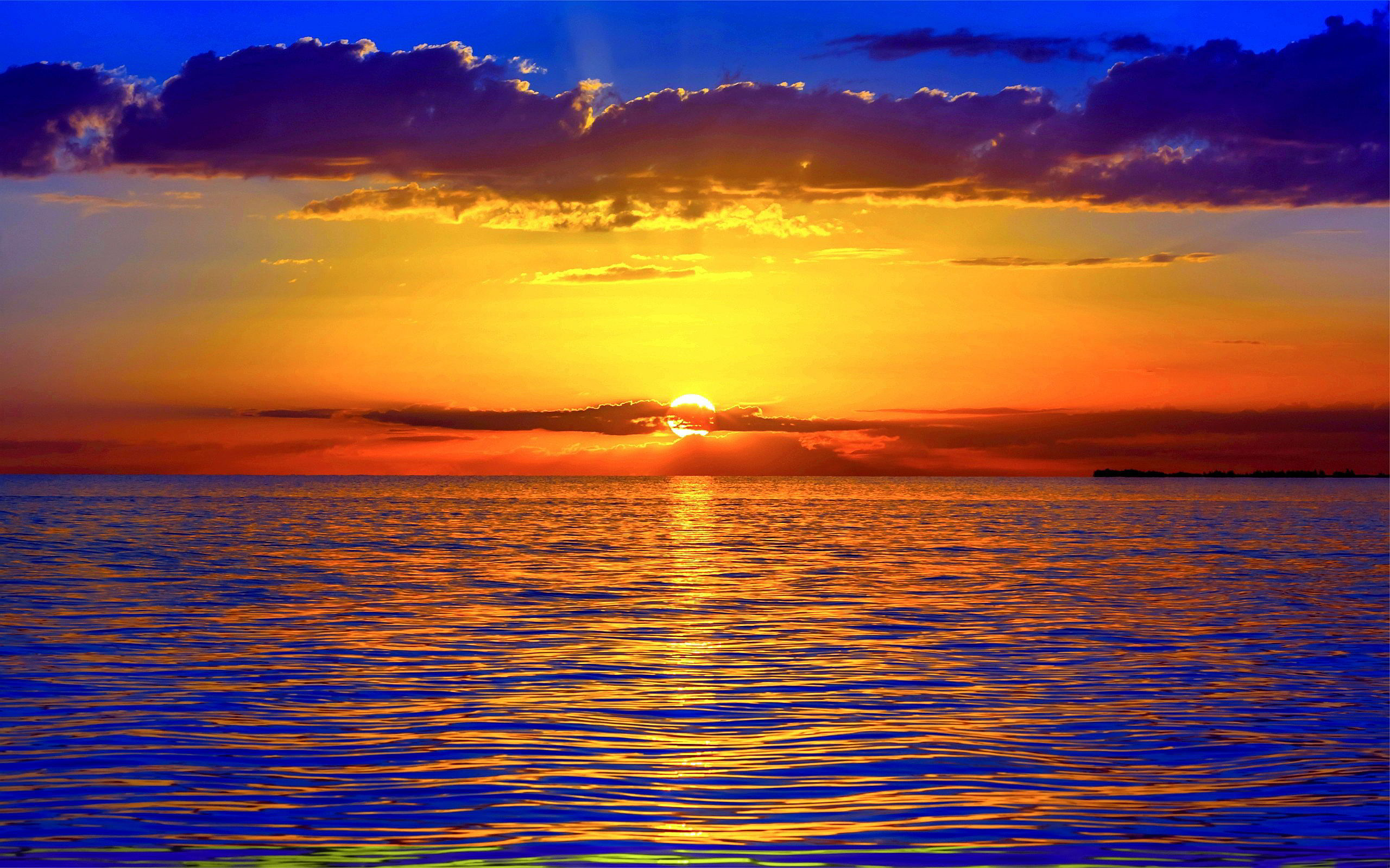 amazing ocean sunset wallpaper