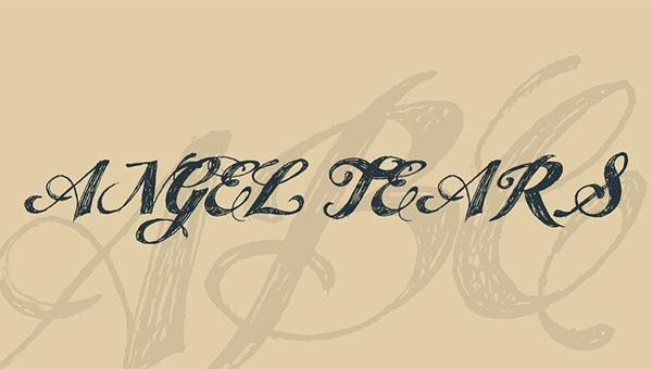 angel-tears-font