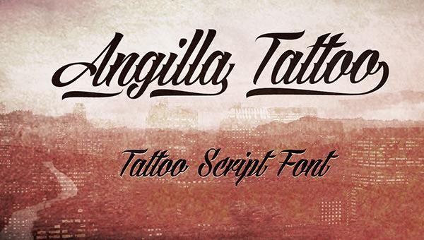 angilla-tattoo-font