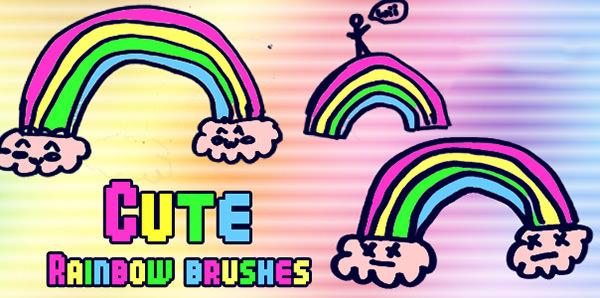 animated rainbow brushes