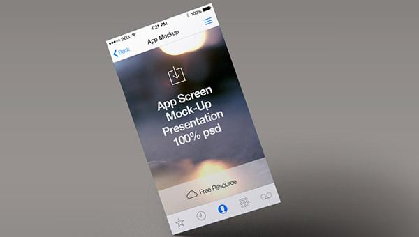 15 free psd app screen mockups freecreatives