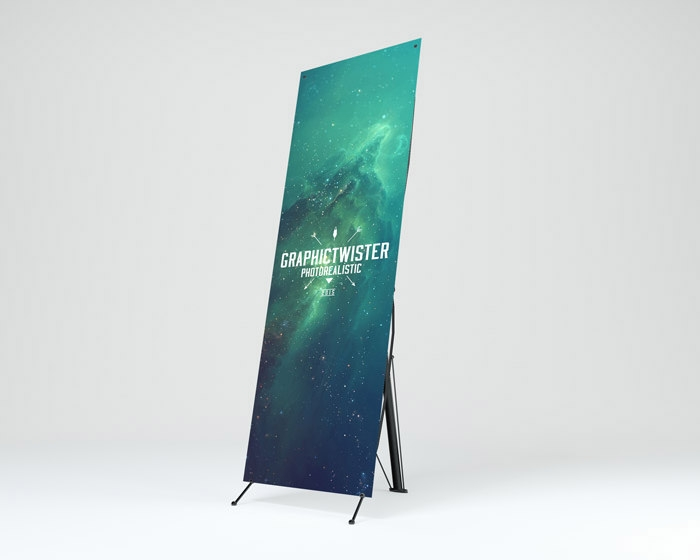 banner stand mockup psd