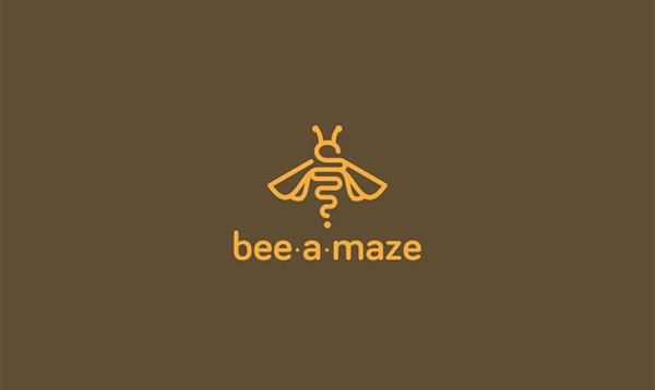 bee-a-maze logo design