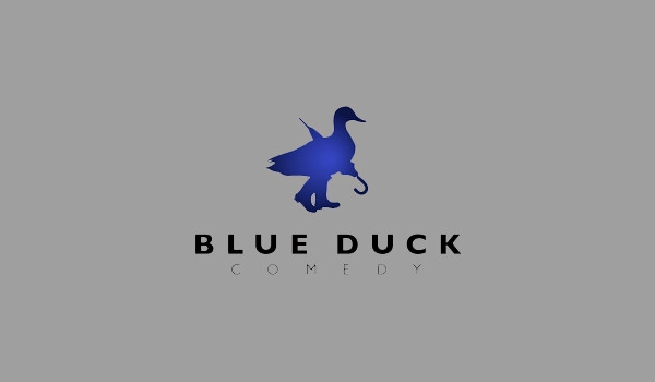blue duck comedy logo