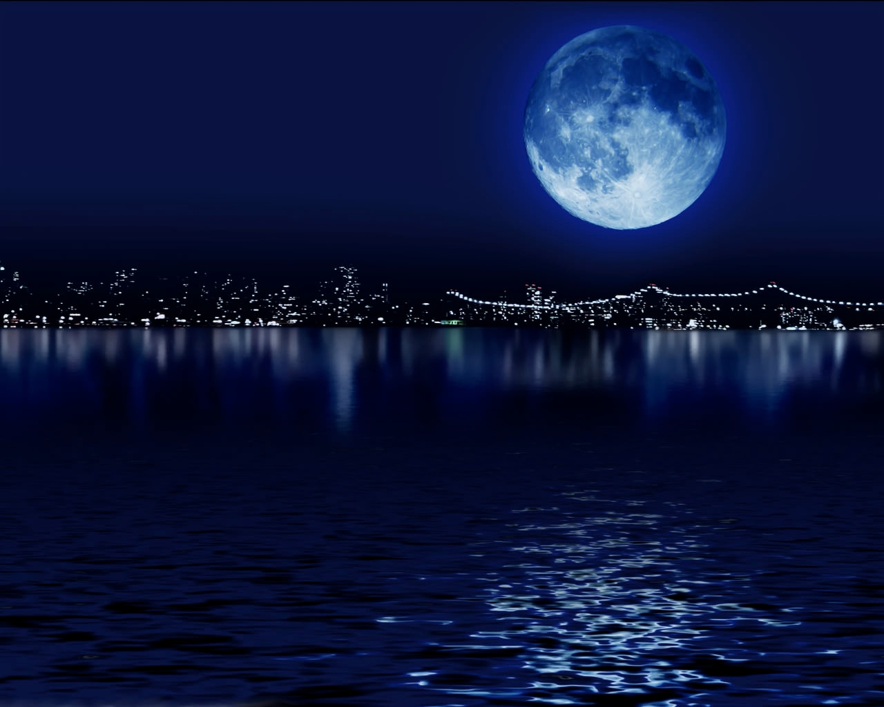 blue-moon-wallpaper with colorful background