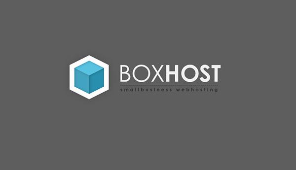 boxhost-gray logo design