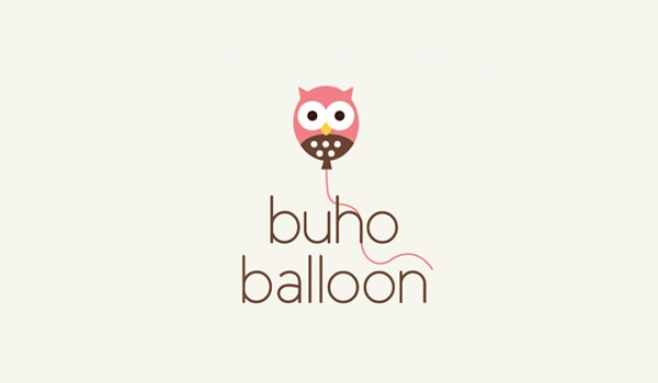 buho balloon logo design