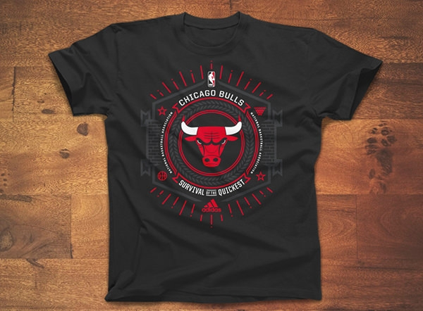 bull logo on t-shirt