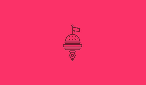 burger logo desing for inspiration