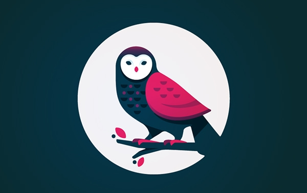 colorful owl logo design