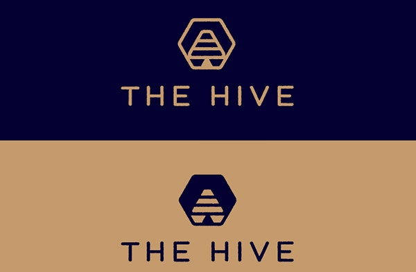 creative bee hive logo design