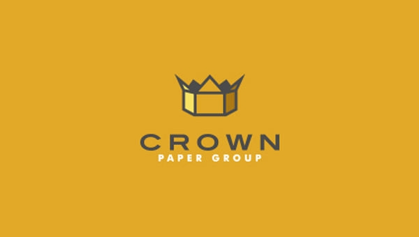 crown paper group logo design