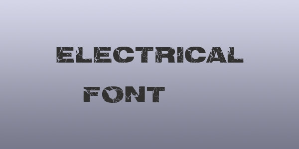 electrical font