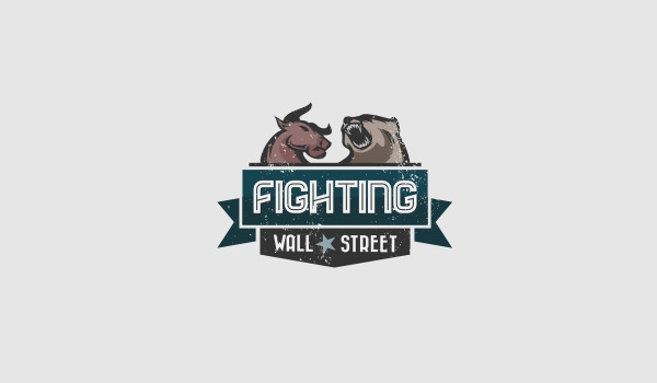 fighting wall street bull logo