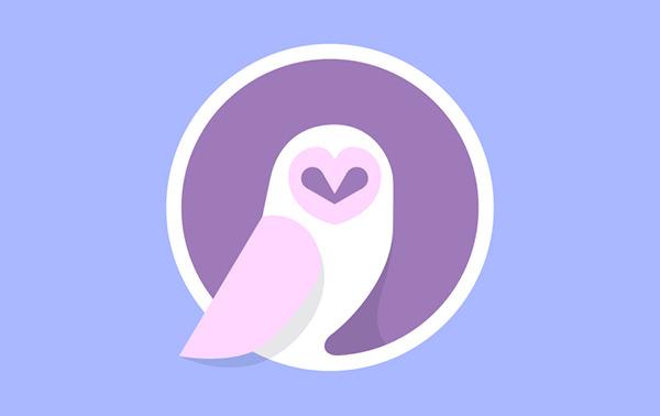 flat owl logo